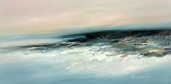Skive by Lynne Timmington - Original Painting on Deep Box Canvas sized 39x20 inches. Available from Whitewall Galleries